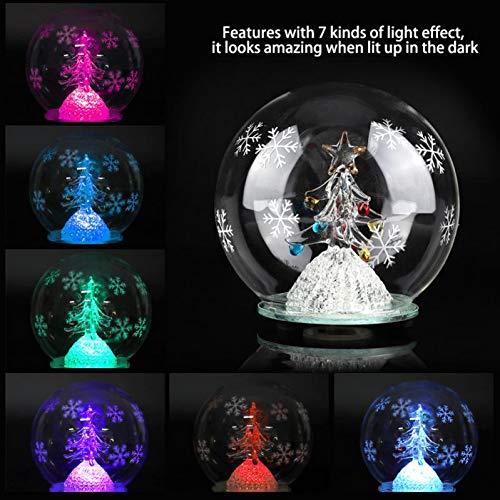 XHSHLID kerstboom, tafellamp in de vorm van een ornament, LED-kogellamp, kersttafellamp, bureaulamp Home Office geschenken, kerstcadeau