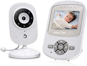 Baby Monitor, Dragon Touch DT24 Pro Baby Monitor with Camera and Audio, High-Capacity Battery Baby Camera, Video Baby Monitor with Two-Way Audio, Lullaby Player, Night Vision, Up to 1000ft Range