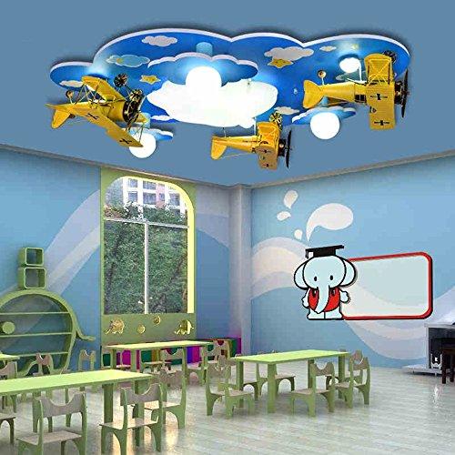 Lámpara de techo ZHANGRONG habitación de los niños Creativa de la Historieta LED Dormitorio del varón y de la Hembra Dormitorio -Efficiency:A+++ (Color : Remote Control)