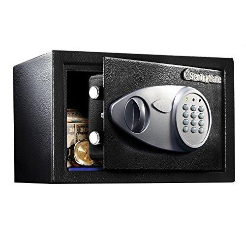 SentrySafe X041E Security Safe with Digital Keypad, 0.4 Cubic Feet (Small), Black