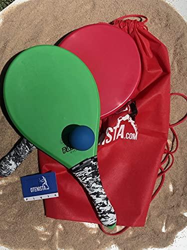 Raquete de Frescobol - Semelhante Fibra Kit duas +Bola+Sacola