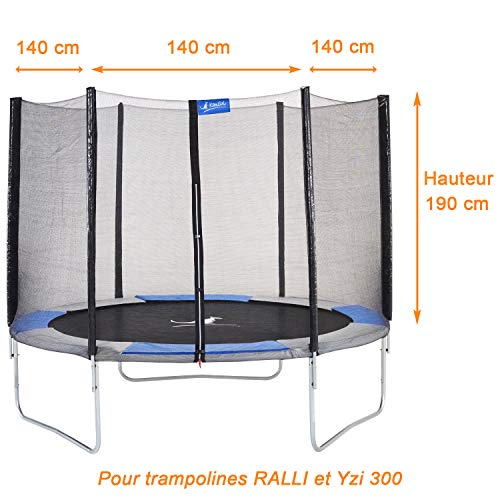 Kangui - Rete di sicurezza e protezione per trampolino RALLI Ø 300 cm