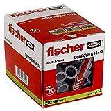 Fischer 25 Tasselli Duopower, 14 x 70 mm, per Muro pieno, Mattone Forato, Cartongesso, 538...