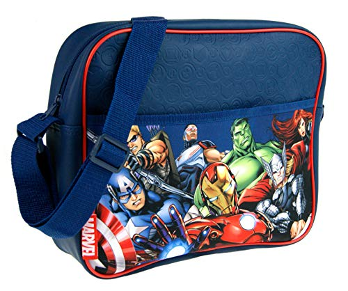 Marvel Avengers Messenger Bag with All Characters Large Cross Body Shoulder Bag...