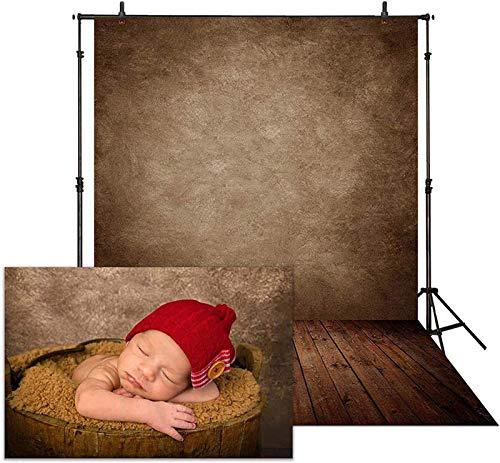 Allenjoy 1,5 x 2,1 m de tela suave abstracta marrón fondo de pared para fotografía, suelo de madera, fondo de bebé recién nacido, cartel de retrato de cumpleaños, cabina de fotos de estudio