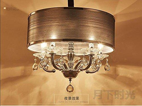 WINZSC Lámpara de Dormitorio de Cristal Simple lámpara de Estudio de Estudio lámparas LED Redondas Vestuario de Tela Creativa Luces Colgantes de Cristal ZA FG439 lo12 (Size : D45cm)
