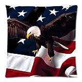 Weißkopfseeadler amerikanische Flagge Custom mit Reißverschluss quadratisch Kissen und...
