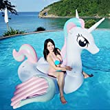 Hinchable Colchonetas Gigante Colorido Unicornio Piscina Flotador Inflable Coloreado Pegaso...