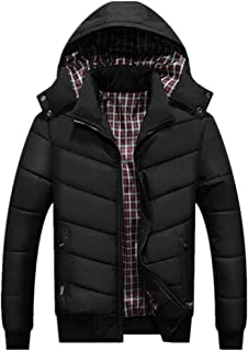 WEI HUI Men's Casual Winter Large Size Outdoor Plus Velvet Thick Waterproof Hooded Coat Jacket