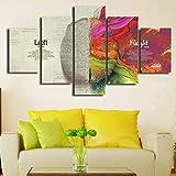 CVG 30X40X60X80 Cerebro Creativo Izquierda Derecha anatomía Lienzo Pintura Moderna decoración del hogar 5 unids/Set Pared Arte Impresiones Imagen para Cartel de habitación