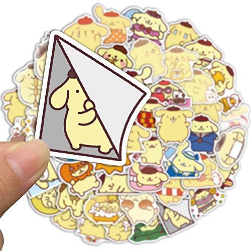DSSJ 50 Piezas de Pegatinas para Perros con pudín no se repiten Graffiti Maleta Coche eléctrico iPad Carcasa de teléfono móvil Pegatinas Impermeables de Dibujos Animados