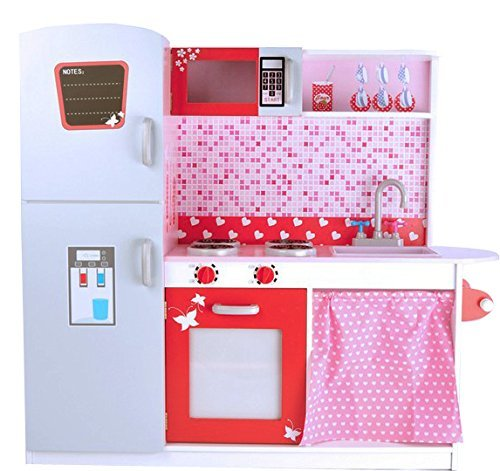 Best For Kids Spielküche Kinderküche aus Holz Deluxe - Spielküche aus Holz Fliesen W10C037