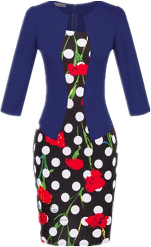Shiratori Sleeve Plaid Dress wear Fake Two Package Hip Pencil Skirt