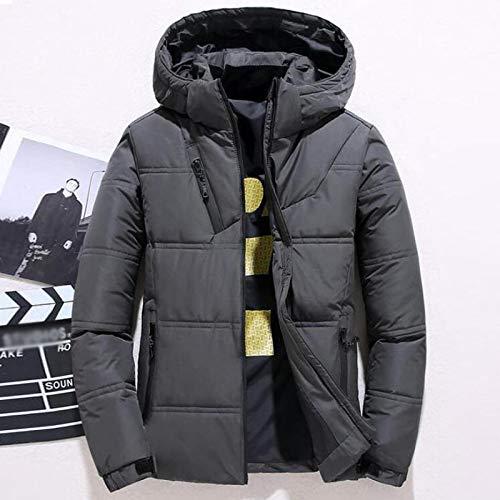 Neue Winterjacke Herren Casual White Duck Down Warme Kapuzenmäntel Herren Outwear Windbreaker Verdicken Parkas 4XL L 905Darkgrey