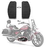 Artudatech Motorrad Universal Trittbretter,Front Fahrer Trittbrett Fußstütze Fußrasten Motorrad Fußraste für HON-DA VTX 1800 1300 SU-ZU-KI VL800 VL400 C50 Yamaha V-STAR