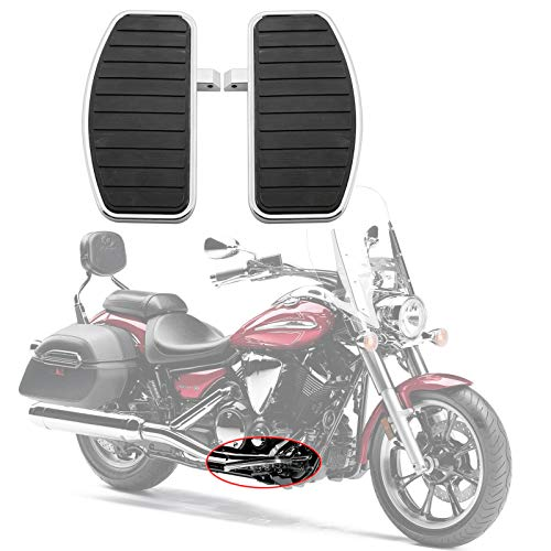 Artudatech Motorrad Fußpedal, Front Fahrer Trittbrett Fußstütze Fußrasten Motorrad Fußraste für HON-DA VTX 1800 1300 SU-ZU-KI VL800 VL400 C50 Yamaha V-STAR