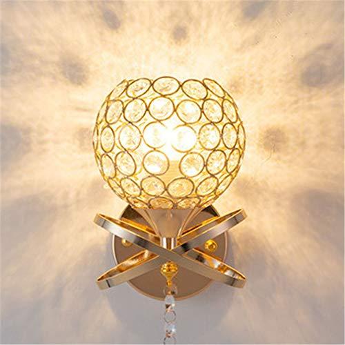 YaoXI kristallen wandlamp retro wandlamp E27 inrichtingen monteren wanden retro voor woonkamer keuken eetkamer hangend wandlamp licht