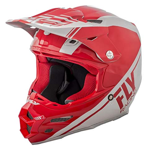 Fly Racing Casque Motocross 2018 F2 Carbon Rewire Rouge Gris (S, Rouge)