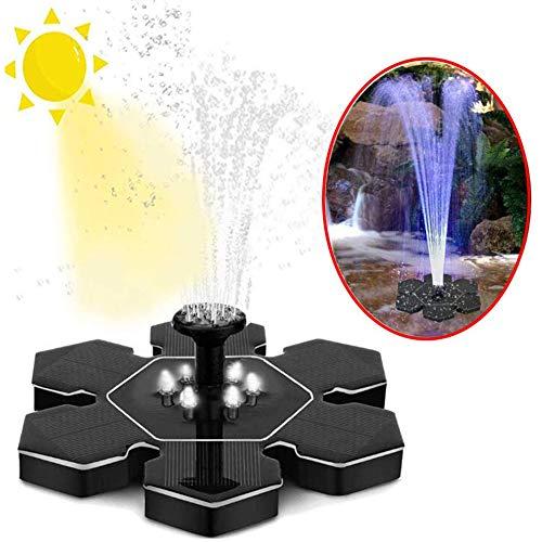 YFGlgy Fuente Solar, Fuente de baño de pájaros con energía Solar para alberca para pájaros, Estanque, Piscina, pecera de jardín y Cabezales de pulverización de césped incluidos.