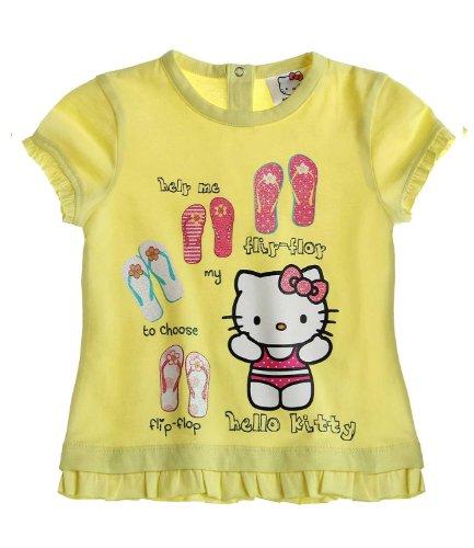 Hello Kitty T-Shirt Jaune pour bébé (12 Mois)