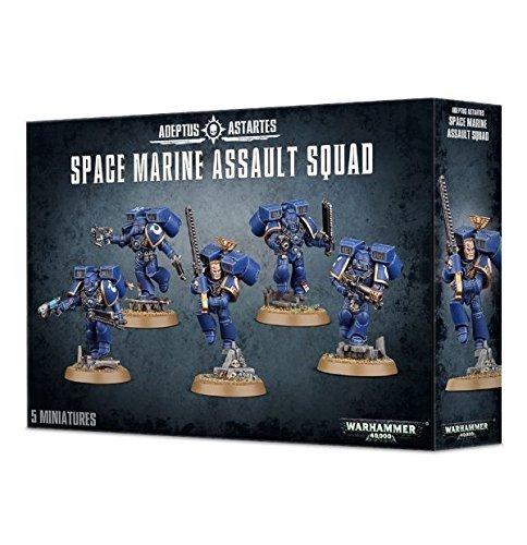 Games Workshop Space Marine Assault Squad Mesa y Juegos en Miniatura, Color Gris, Talla única (48-09)