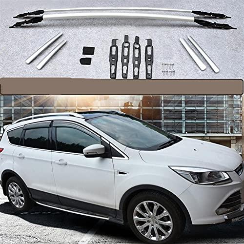 XIAOZHIWEN Cajas de Equipaje portadoras de Barras de Techo de automóviles Cajas de riel de Barras Superiores para Ford Kuga Escape 2013 2014 2015 2015