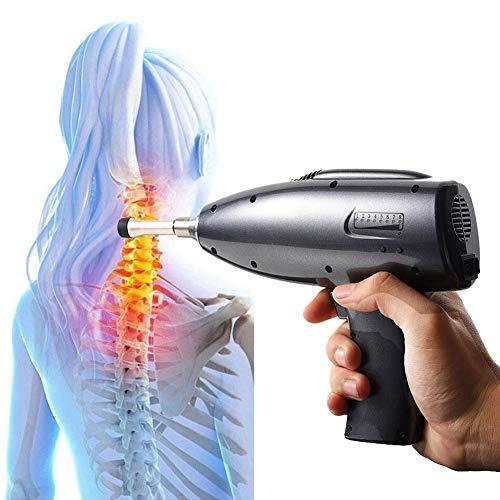 WLKQ Elektrische Chiropraktik Anpassung Werkzeug, Massagegerät Wirbelsäule, Wirbelsäule Impuls Adjuster Therapie Aktivator Korrektur Massagegerät, mit Vier Massage-Köpfen (EU)