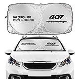 Protección UV para Coche Windshield WindowsShades Sombrillas Auto Accesorios compatibles con Peugeot 107 108 206 207 208 306 307 308 407 408 508 2008 5008 RCZ Parasoles para coche ( Color : For 407 )