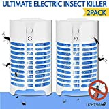 LIGHTSMAX Ultimate Indoor Bug Zapper Flying Insect Killer Using Unique UV Light Trap