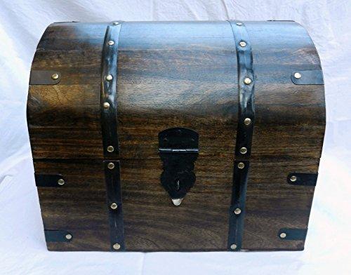Generic ng madera/Woode/baúi multiángulos para ovillo de tamaño grande de madera/cofre pirata...
