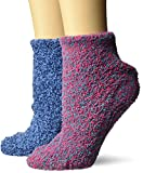 Dr. Scholl's Women's 2 Pack Soothing Spa Low Cut Lavender + Vitamin E Socks with Silicone Treads, Pink, Shoe Size: 4-10