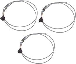 FLAMEER Set van 3 Universele Push Pull Choke Throttle Cable Choke Control 63-inch Binnenkabel 60-inch Buitenleiding Grasma...