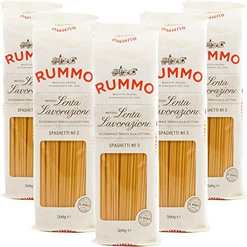 Spaghetti | Rummo | 5kg Maxi Formato | Pasta | Grano 100% Italiano | Confezione 10 Pacchi da 500gr | Eccezionale Tenuta alla Cottura | Idea Regalo