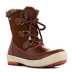 powerful Wilson COUGAR Women's Winter Boots, Dark Brown / Chestnut / Suede Ranchero Leather, US 6