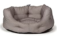 This super comfy dog bed is made from 100% polyester It is filled with supersoft thermal polyester fibre Foldable and is fully washable It is a classic dog bed and is oval in shape Comes in Grey colour