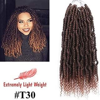 4 Packs Spring Twist hair Pre-twisted Hair,Showjarlly Nubian Twist Braid hair Crochet Braids, Spring Twist hair Braiding Hair Extension (#T30)