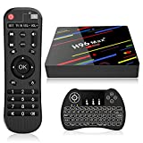 EstgoSZ 4GB Ram 64GB ROM H96 Max+ Android 9.0 TV Box , Ultra HD 3D 4K Smart TV Box Android Box RK3328 Support H265 VP9 WiFi 2.4G 5G 100M LAN Bluetooth KD18 USB3.0 Android TV Box with Keyboard