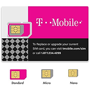 2 Pack  Authentic Official T-Mobile SIM Card Micro/Nano/Standard GSM 4G/3G/2G LTE Prepaid/Postpaid Starter Kit Unactivated Talk Text Data & Hotspot