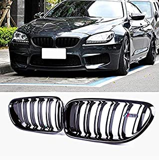 JMY Front Replacement Kidney Grille Grill for BMW 6 Series F06 F12 F13 Glossy Black (ABS)