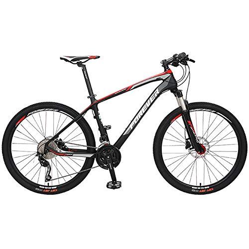 27 velocità 27,5 Pollici in Mountain Bike in Fibra di Carbonio Ciclismo, Bicicletta da Cross Country Fuoristrada Mountain Bike da Trail con Forcella Ammortizzata Bici a Sospensione Leggera MTB