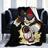 Sōnic Blanket, Sōnic Shadow The Hedgehog Kids Throw Blanket, Sōnic The Hedgehog Blanket, Cartoon Blankets for Boys 80'X60'