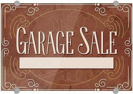 Victorian Card Premium Brushed Aluminum Sign 27x18 Garage Sale CGSignLab