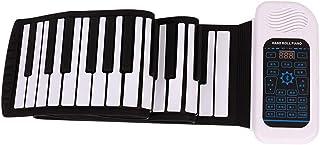 88 Key Electronic Keyboard Piano Hand Rolled Piano Midi Piano Foldable Bluetooth Piano Home Digital Piano (Color : 88 key)