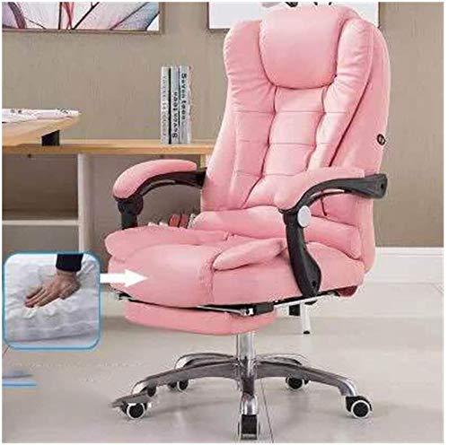 GSAGJcj Cinturón de Asiento Ajustable de la Mesa de la Oficina de la Silla del Juego con el cinturón de Seguridad de la Moda con el reposapiés y Las sillas,Pink