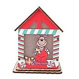 Fishlor Cabina de Navidad, Forma Linda Colgante de Navidad Decoración de árbol Cabaña de casa con Velas Adornos Colgantes de árbol de Navidad DIY(Reno)