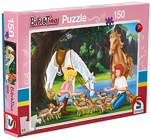 Schmidt Spiele- Puzzle Bibi et Tina-dans la Carrière 150 Pièces, 56050