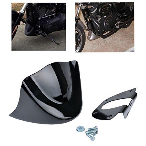 KATUR Aileron avant inférieur pour moto Astra Depot - Noir mat - Pour Harley Davidson Sportster 2004-2014 XL883 XL1200 2004-2015