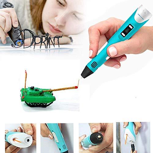 3D Stift Set , 3D Drucker Stift 1,75MM PLA Filament und Papier Schablonen für 3D Basteln, 3D Pen mit LCD Bildschirm, Geben Sie Kindern die perfekten Geburtstags - 3