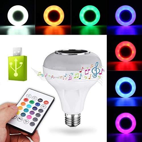 GYW-YW LED Bombilla 12W E27 RGBW USB Bluetooth Light Bombilla LED Inteligente Juego de la música de la lámpara + 24keys Control Remoto Wi-Fi Bulbos