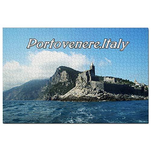 Portovenere Liguria Italia Puzzle 1000 Pezzi Adult Puzzle in Legno Gioco di Puzzle Souvenir Turismo Regalo